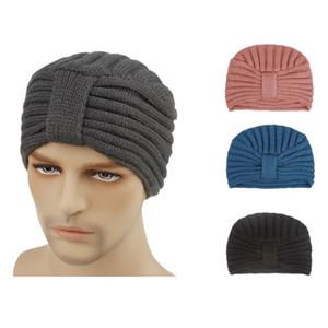 Designer Acrylic Rib Knit Beanies Mens Womens Winter Head Warmer Cap Plain Adults Man Woman Ladies Headbands Hair Bonnets 10 Solid Colors