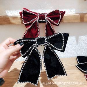 Zhou Yangqing Black Butterfly Machine Full Bohrer Rücken Löffel Koreaner Netz Rot Haarnadel Kopfschmuck Feder Clip Zubehör