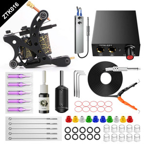 Tattoo Machine Set Complete Beginner Tattoo Kit For Starter Liner and Shader Gun Whole set kit for beginner Practice