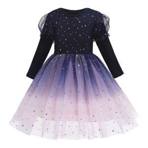 Christmas Girls Dress Big Bow Elegant Princess Dress Kids Dresses For Girls Wedding Evening Party Ball Gown Children Clothing Z1127