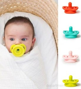 Nipple Food Grade Soft Silicone For Newborn Nipples Feeder Flexible Infant Cleaner Funny Soother Baby Pacifier OWC1172