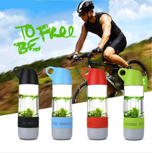 2-в-1 бутылки воды Bluetooth Speaker Бутылки для воды Бег Спорт Wireless Cup Фитнес Intelligent Tweaker Drinkware с крышкой DWC3738