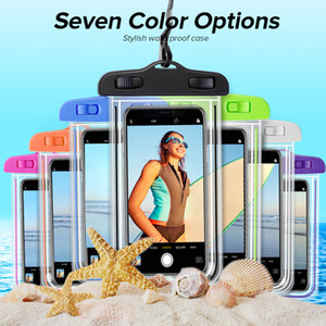 Universal Waterproof Phone Case Swimming Mobile Phone Bag Pouch Cover For Samsung S10 S9 For iPhone 12 11 XS MAX 8 7 6 6S Plus