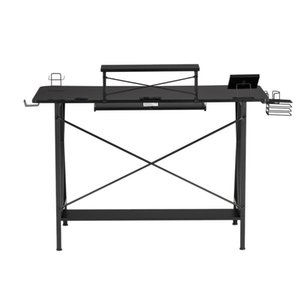 WACO Gaming Table E-Sports Computer Desk, 47 inch Home Office Workstation with USB Cup Holder Headphone Hook
