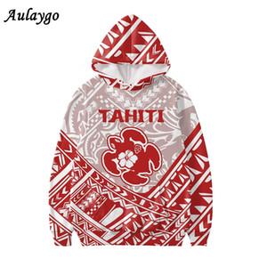 AulayGo Tahiti Shield Path Stam Tattoo Stampa con cappuccio Felpa con cappuccio 2020 Capo Oversize Long Buthes Donne Casual Felpe Harajukured Felpe Casual