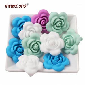 Tyry.hu 5pc a forma di fiore in silicone perline dentizione grado infermieristica perline da masticazione BPA Bracciale FAI DA TE GRATIS / collana gioielli11