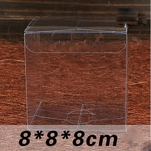 1lot10pcs 999cm Clear Gift Box Different Sizes Square Shape Pvc Package Box Plastic Packaging Box For Souvenir Candy Wedding jllCbE jhhome