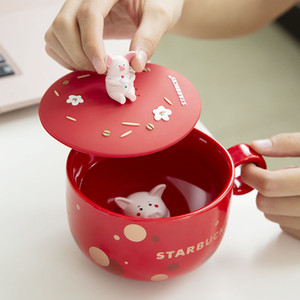 350ml Starbucks Cute Little Pig Coffee Mug 2019 New Years Chinese Zodiac Little Pig Cup For Gift