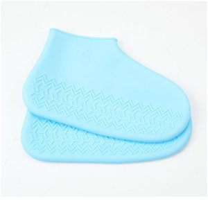 A Pair Of Sile Rain Boot Covers Children's Rainproof Non-slip Portable Shoe Covers Waterproof And Wear-resistant Sho jllcnt