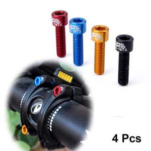 4 Pcs 17mm Bicycle Water Bottle Holder Mount Bolts Cycling MTB Fixed Gear Tool Screw Hex-headed to Install Bike Bottle Cage Rack