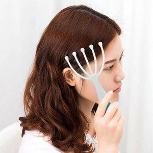 Scalp مدلك خمسة مخالب الإصبع رئيس تدليك الصلب الكرة الاسترخاء سبا الرعاية لتخفيف النمو من الشعر