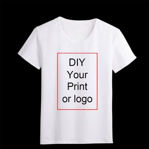 Özelleştirilmiş Baskı T Gömlek Bayan Kızlar DIY Fotoğraf En Tees T Gömlek Erkek Erkek Gömlek