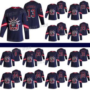 Нью-Йорк Рейнджерс Джерси 2020-21 Обратный ретро 13 Алексис Lafreniere 24 Kaapo Kakko 10 Artemi Panarin 23 Adam Fox Hockey Jersey