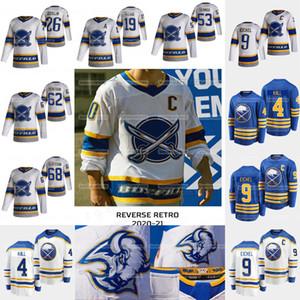 4 Taylor Hall Buffalo Sabres 2021 Retro Retro Jack Eichel Zach Bogosian Ristolainen Rasmus Dahlin Bogosian Olofsso Staal Jersey
