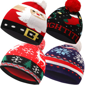 New cartoon children's hat Christmas knitted hat spot adult Christmas Tree Snowman Autumn winter cover head cap ball hat T3I51479