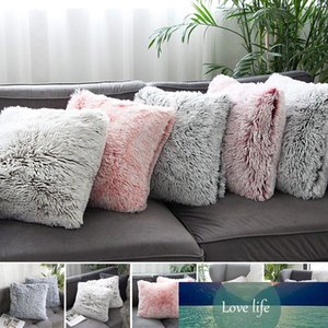 45×45cm Soft Plush Fluffy Soft Cushion Cover Decorative Pillow Throw Solid Color Cases Luxury Home Sofa Decor Living Room Pillow Case