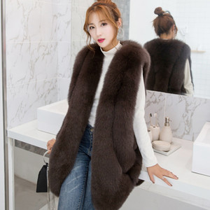 ZADORIN NEW Designer Winter Faux Fur Vest Women Faux Fur Gilet pelliccia Plus Size Furry Fur Coat manteau fourrure femme bontjas LJ201204