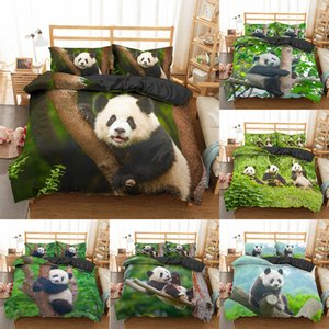 Homesky Panda Bedding Set Impreso 3D Duvet Funda Duchón Twin Full Queen King Double Au Single Tamaños Ropa de cama Funda de almohada 2 / 3pcs 201114