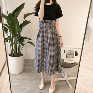 Fashion Casual Women Flower Bud Skirt Two Pieces Dress Set T shirt Flower Bud Skirt Slim Suit for Lady Summer Outfits with