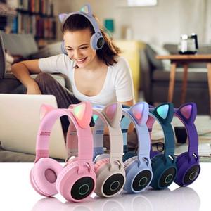 Écouteurs Bluetooth 5.0 Kids Led Casque Casque Écouteur sans fil HiFi Stereo Bass casque pour iPhones Samsung avec microphone