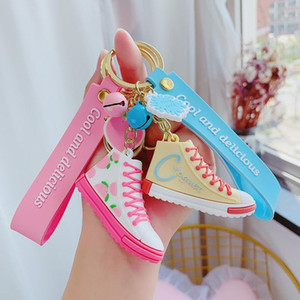Chain Cartoon Fruit Accessorie1 Sneaker Car Flower Doll Keychains Women Girl Key Ring Bag Phone Cute Key Keychain Kid Charm Anime Jjdnj