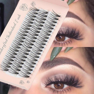 60 Clusters C Curl 10D 20D 30D False Eyelashes Flare Individual Soft Faux Mink Hair Handmade Knot Free Eye Lashes Extension