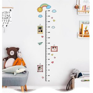 4 Cute Cartoon Animal Moon Height Ruler Wall Stickers For Kids Room Bedroom Height Meter Sticker Home Decor Child Growth Gift