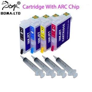 BOMA.LTD 1Set PX-049A PX-048A Ink Cartridge For PX048A PX049A RDH-C RDH-BK RDH-M RDH-Y With Auto Reset ARC Chip1 Cartridges