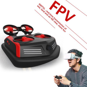 GOOLRC Upgraded S200 600TVL FPV Drone Boat Car 3-in-1 Sea-Land-Air Mode Hovercraft Mini RC Quadcopter Toys for Kids One-Key Flip