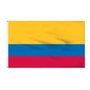 Kolombiya Ülke Ulusal Bayrakları 3'X5'FT 100D Polyester Açık Sıcak Satış İki Pirinç Grommets ile Yüksek Kalite
