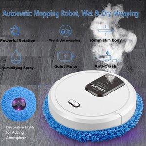 Mopping Robot Temizleyici Sprey Tipi Nemlendirici Wetdry Mopping Otomatik Temizleme Anti-Crash 1500 mAh Şarj Edilebilir Robotlar Temizleyici Q1208