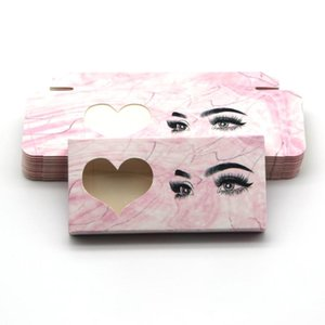 Marble Beauty Design Eyelash Packaging Box Gitter Muti-Color Mink Lashes 10 20 30 50 100 Pieces Empty Rectangle Case Bulk