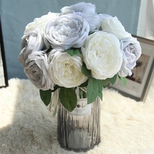 Artificial Flowers Peony for Wedding Decor Silk Peonies Bouquet for Home Decoration Fake Rose Flower 5PCS Bouquet