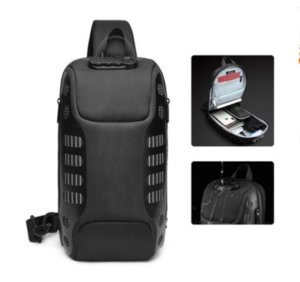 Fashion New Men Chest Bag Multifunction Anti-theft Chest Pack Male Waterproof Sling Messenger Bags USB Mens Crossbody Bag
