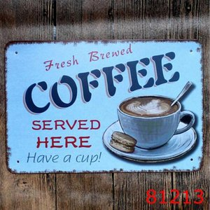 COFFEE Vintage Tin Signs Retro Metal Sign Retro Wall Stickers Decoration Art Plaque Vintage Home Decor Bar Pub Cafe DHB1078 dsf