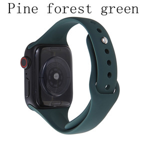 Good price for Apple Watch Silicone Strap iwatch Series Pure Color Small Waist Slim Sports Silicone Strap 38mm 40mm 42mm 44mm