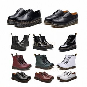 [shipped within 6 days] Classic 1460 boot ankle High platform doc crystal sole martin fox mens womens with fur martins fox boots #36-46#