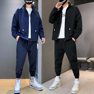 Streetwear Tracksuit Men Sets Spring Autumn Sweatshirt Casual Set Men's Sportsuit Jacket+Pants Male 2020 Sportswear Clothing