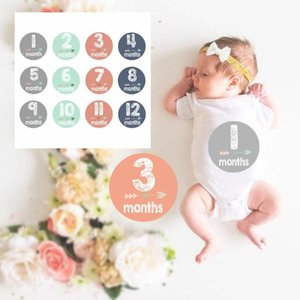 12 PCS Per Set Newborn Month Stickers Pregnant Women Baby Photo Prop High Quality Stain-resistant Gilded Adhesive Stickers