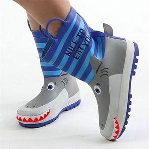 Cool Kids Rain Boots Primavera Baby Girls Shark Design Scarpe in gomma Toddler Boys Rainboots