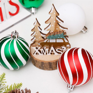 30pcs Christmas Tree Decoration Colored Drawing Ball Home Decor (Green+Red) Z1128