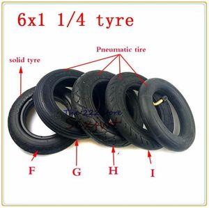 6x1 1/4 솔리드 타이어 6 인치 공압 타이어 오토바이 스쿠터 인플레이션 휠 타이어 내부 튜브 전기 스쿠터 E-Bike 150mm 6x1.251