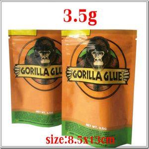 Packaging Glue Bag Herb Dry Zipper Gorilla Glue Mylar Free Bags Smell For 3.5g Vape Proof Bag Dhl Gorilla wmtjb lyqlove