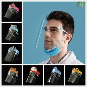 Cartoon Face Shield Mask Anti-Oil Splatter Breathing Safety Face Masks Transparent Mask Anti-fog Cooking Protector Masks DHF615