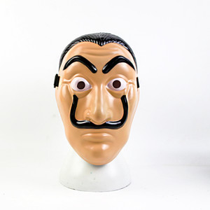 Cosplay Papel Mask Salvador Dali Movie Costume Money Heist The House of Paper La Casa De Papel Cosplay Halloween Party Costumes Face Mask