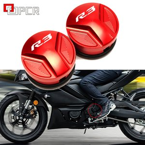 LOGO R3 CNC Motorcycle Frame Hole Cover Protective For Yamaha R3 YZF-R3 YZFR3 2015 -2019 Motorbike Covers Accessories