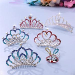 Ougad Crown Bambini Princess Pettine Capanni Diamante Diamante Copricapo Diamante Corona Capelli Pettine Bambina Regalo Accessori per capelli per bambini