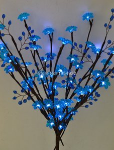 "LED 3*AA Battery Type Acrylic Flower & Beads Branch Light 20"" 60LED AA Standard Acrylic 3cm Diameter Flower plus Acrylic Beads Z1120"