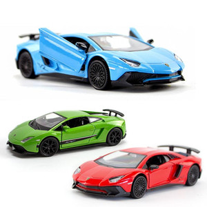 1:36 simulation alloy car model return force cars can open door GTR toy child boy birthday Christmas gifts