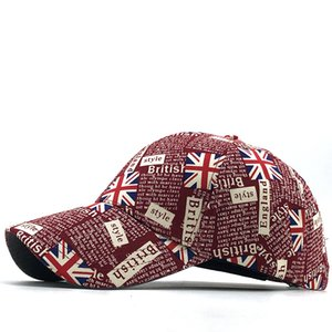 New Gorras Brand United Kingdom Flag Men fishing Baseball Cap Mens Snapback Bone Adjustable Wonmen Baseball Hat Snapback Hat C0123